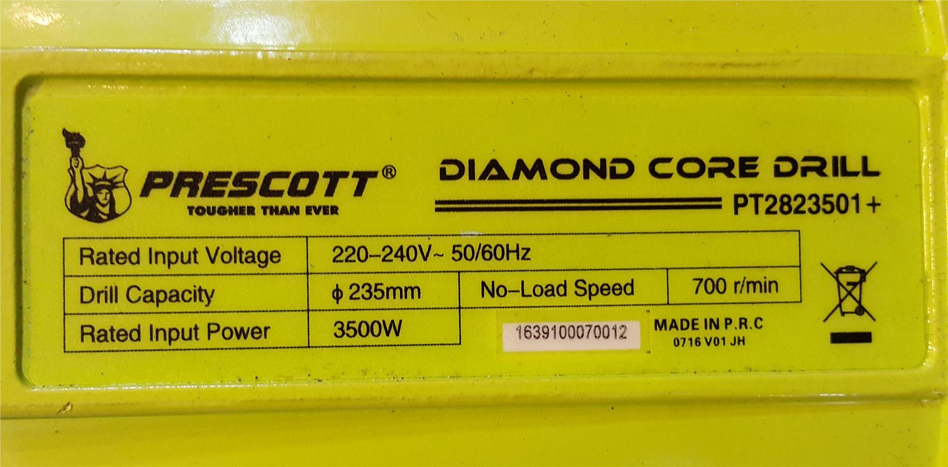 Prescott Diamond Core Drill 3500w ID119441