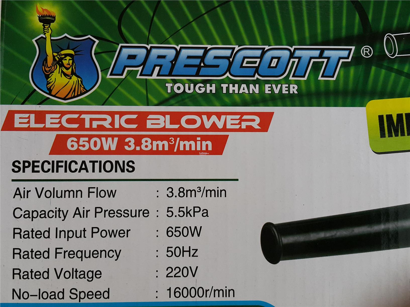 Prescott Electric Adjustable Air Blower/Vacuum ID889228 ID30572