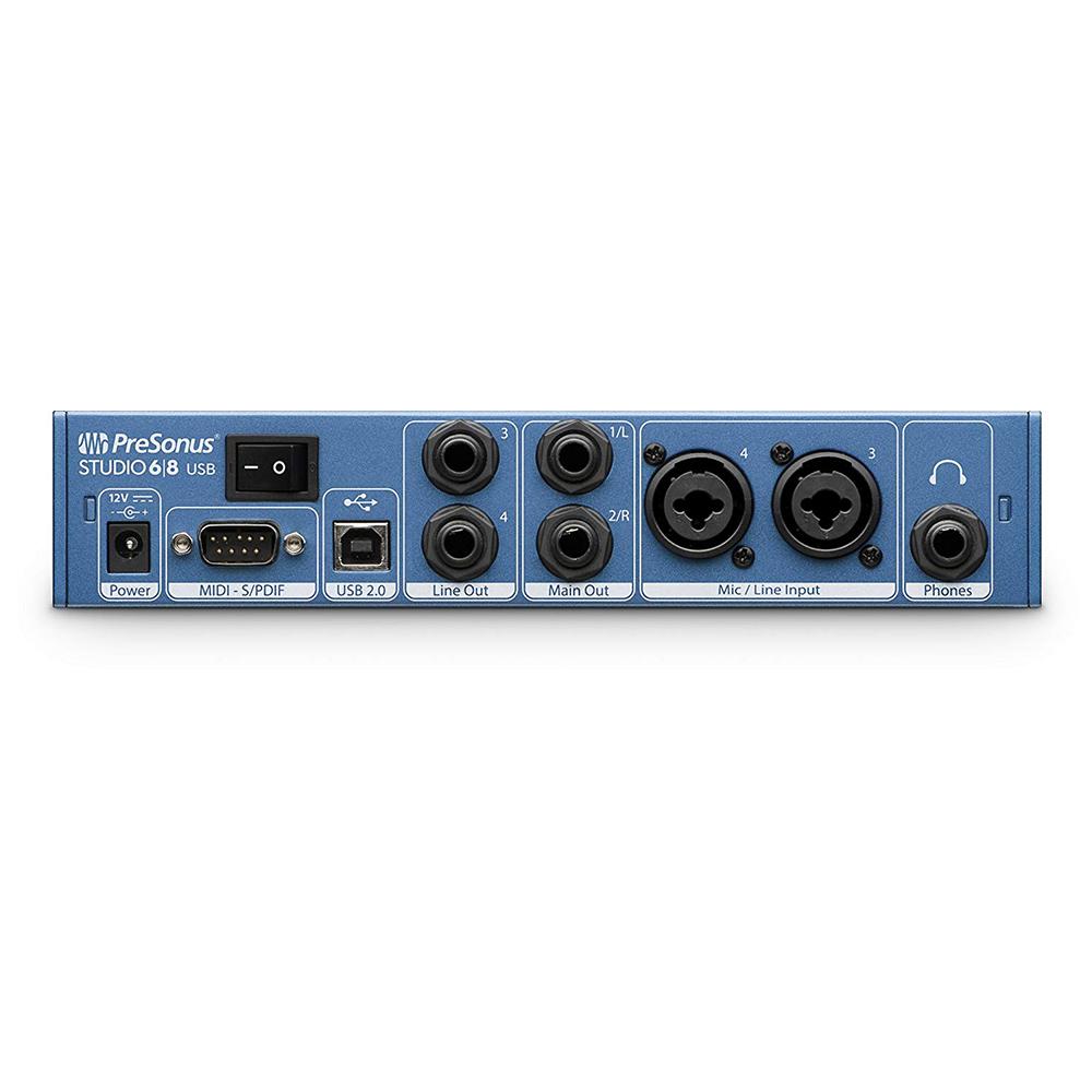 Presonus Studio 6 8 Audio Interface 68-4 Mic Pres USB-C Audio Interfac