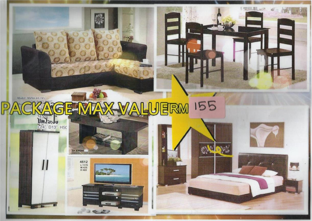 LOW PRICE INSTALLMENT PLAN HOME FURNITURE PACKAGE 7 IN 1 RM155