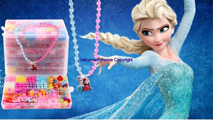 Princess Series DIY Child Toy Bracelet Necklace Gift+Free 10 Grid Bead