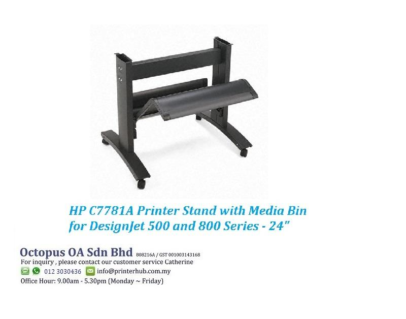 Printer Stand with Media Bin for HP DesignJet 500 and 800 Series - 24""