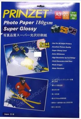 PRINZET A3 5760DPI GLOSSY PHOTO PAPER 180GM, 20SHEET