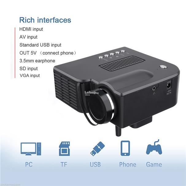 PRO HDMI Portable Mini LED Entertainment Projector Home Cinema Theater