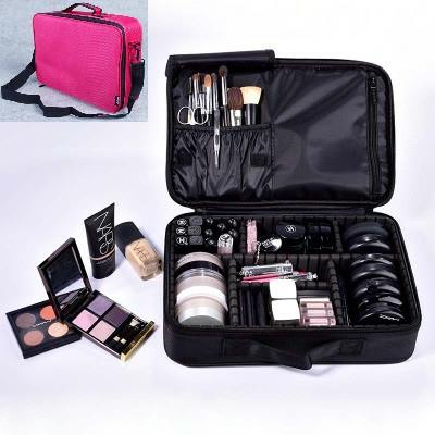 Pro Makeup Bag Compartment Travel Portable Organizer