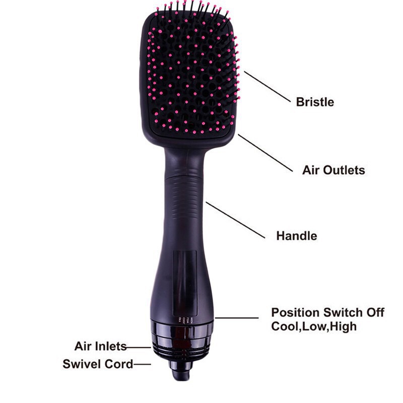 Professional 2 in 1 Hair Dryer Styler Salon Brush Straightener(SM-F05)