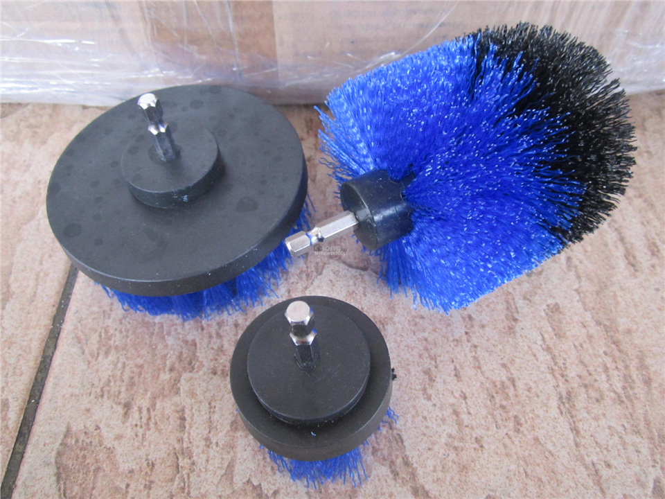 Professional 3pcs Power Cleaning Bristle Brush Set