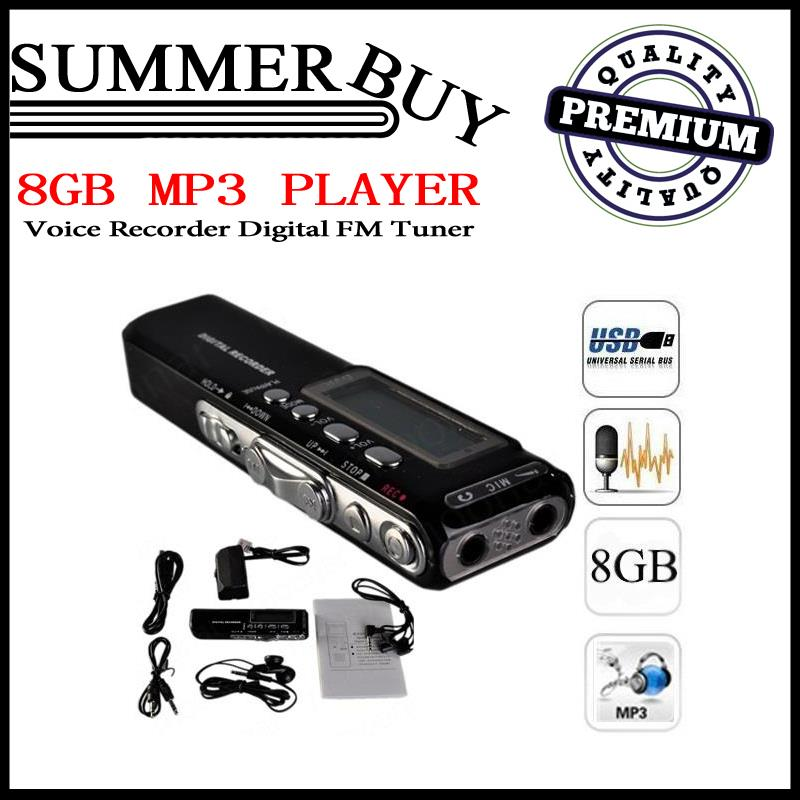 Professional 8GB MP3 Player/Voice Recorder Digital with FM Tuner. ‹ ›