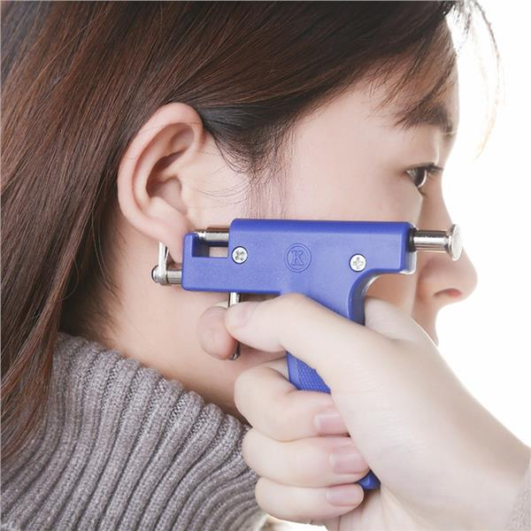 Professional Blue Stainless Steel Nose Ear Navel Body Analgesia