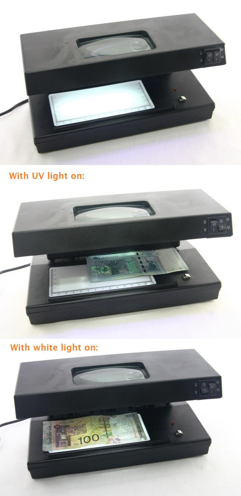 Professional Money Detector UV Light & White Light Multi Function