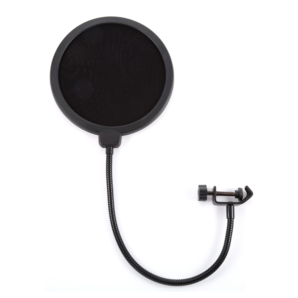 PROFESSIONAL MPF-6 6-INCH CLAMP ON MICROPHONE POP FILTER BILAYER RECOR