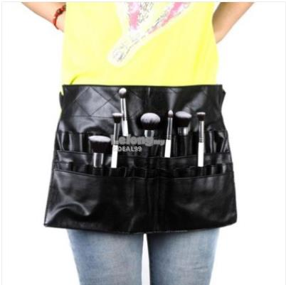 Professional PVC Makeup Bag Black Apron Belt