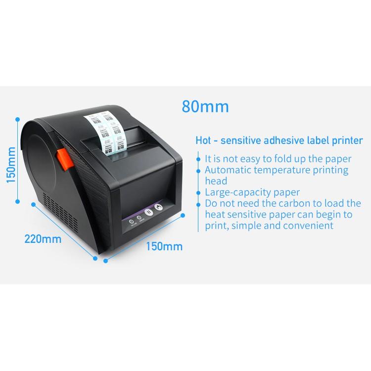 Professional Software 3 inch Barcode Thermal Printer Sticker Label Printer