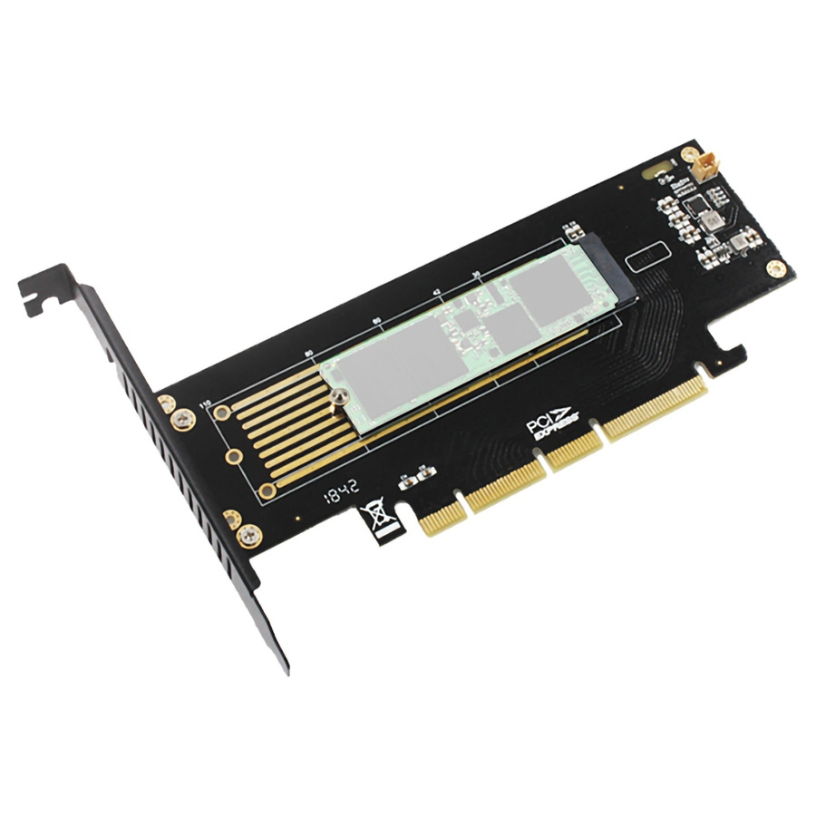 Low Profile JEYI SK8-NEW PCIe 3.0 to NVMe M.2 SSD Expansion Card Adapter Turbo