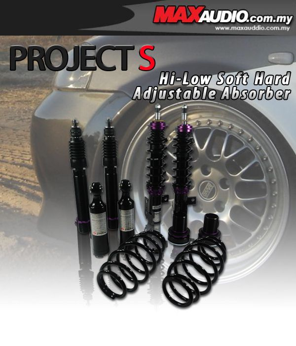 PROJECT-S Hi-Low Soft Hard Adjustable Absorber: NISSAN CEFIRO/MAXIMA A