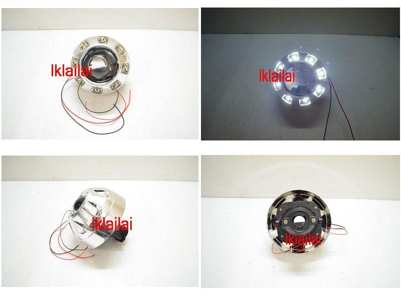 Projector with LED for Head Lamp Modification[H1/H3/H7/H11] Per Pair