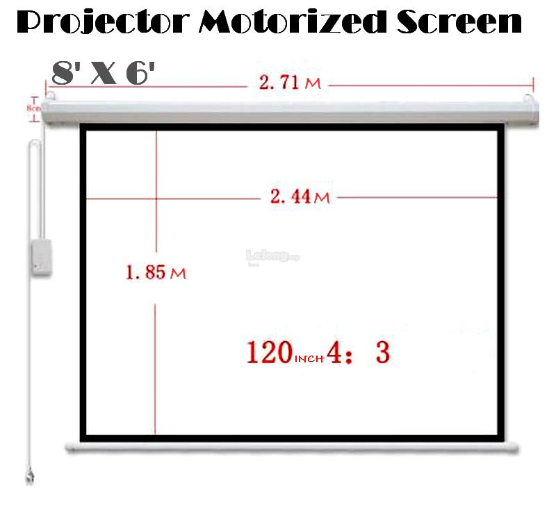 Projector Motorized Screen 7,8,10 feet(Redleaf) FREE Universal control