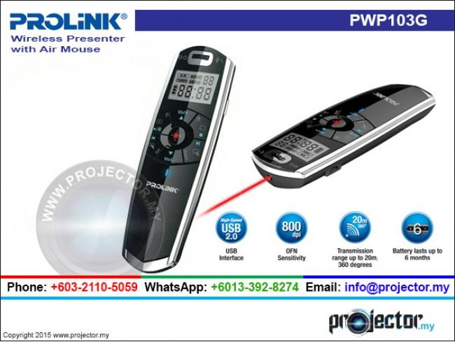 PROLINK PWP103G LCD RECHARGEABLE WIRELESS PRESENTER