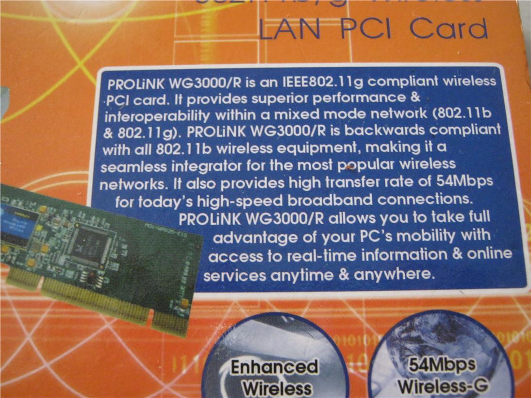 Prolink WG3000-R Windows
