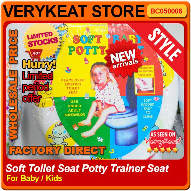 Promo!! Baby Soft Toilet Seat Potty Trainer Seat Cover For Baby Kids