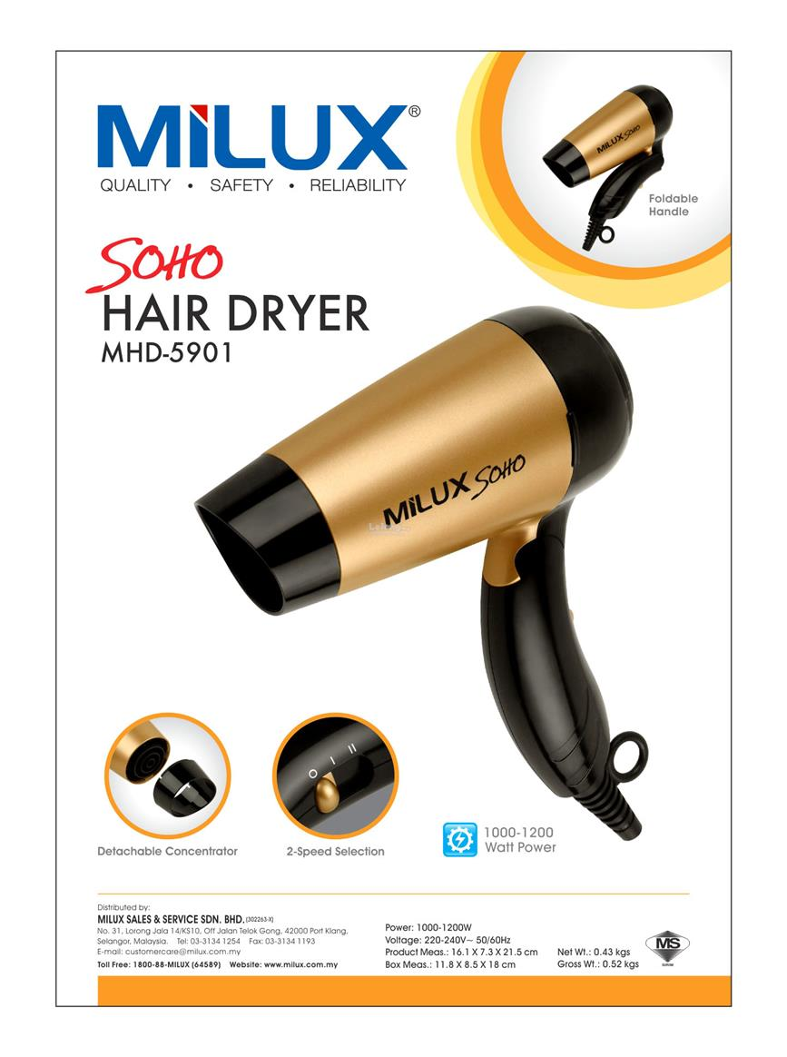(Promo) Milux Soho Hair Dryer MHD-5901