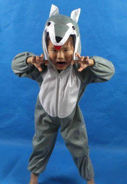 Promotio - Wolf Cosplay Kids Animal Outfit Costume Size XL