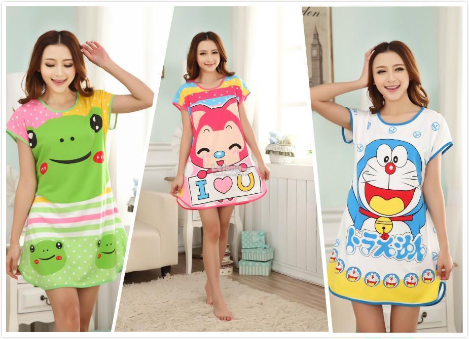 Promotion Baju Tidur 10 Design Cotton Pajamas Cartoon Nightdress cdf3861d5a