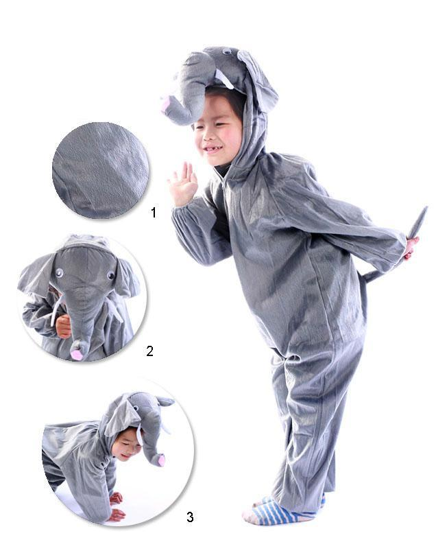 Promotion - Elephant Cosplay Kids Animal Outfit Costume Size L