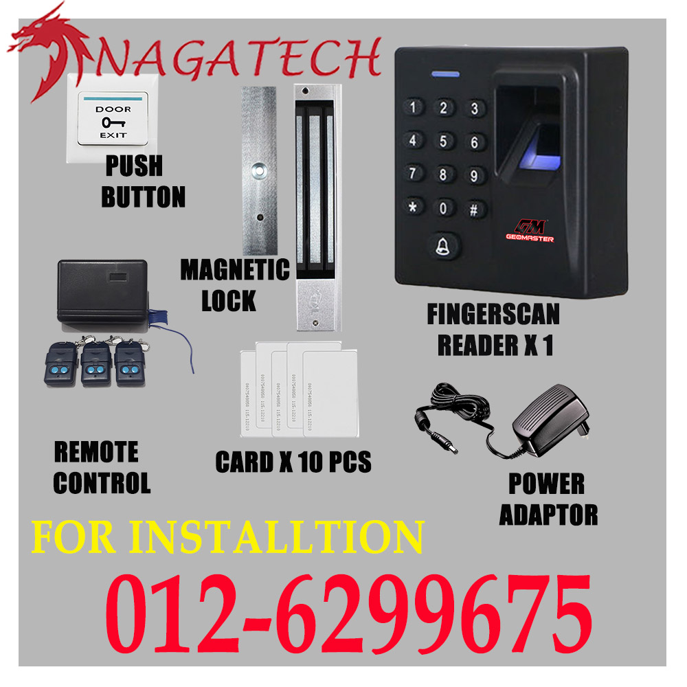 PROMOTION !! FINGERSCAN SECURITY DOOR ACCESS CARD SYSTEM