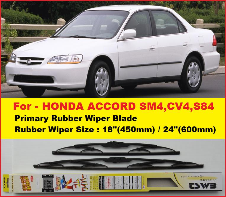 (Promotion)Honda Accord Wipers(NWB18+24)Primary Rubber Wiper Blades. U2039 U203a