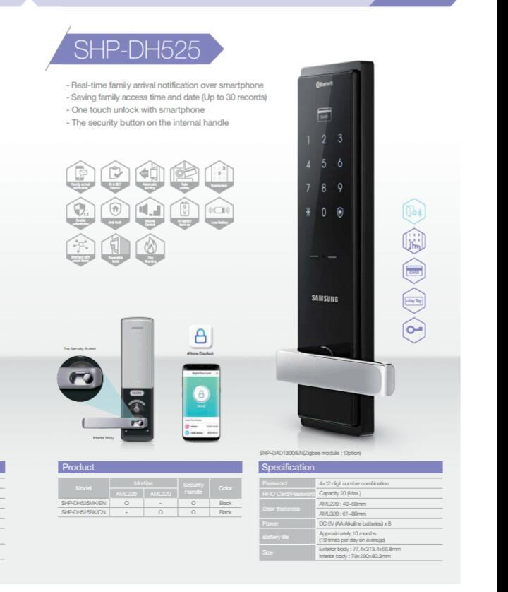 promotion samsung shs dh525 digital smart door lock