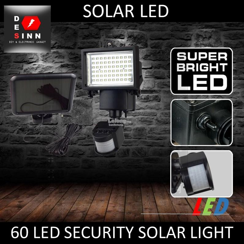 Promotion!!! Solar 60 LED Motion Sensor Security Spotlight Floodlight