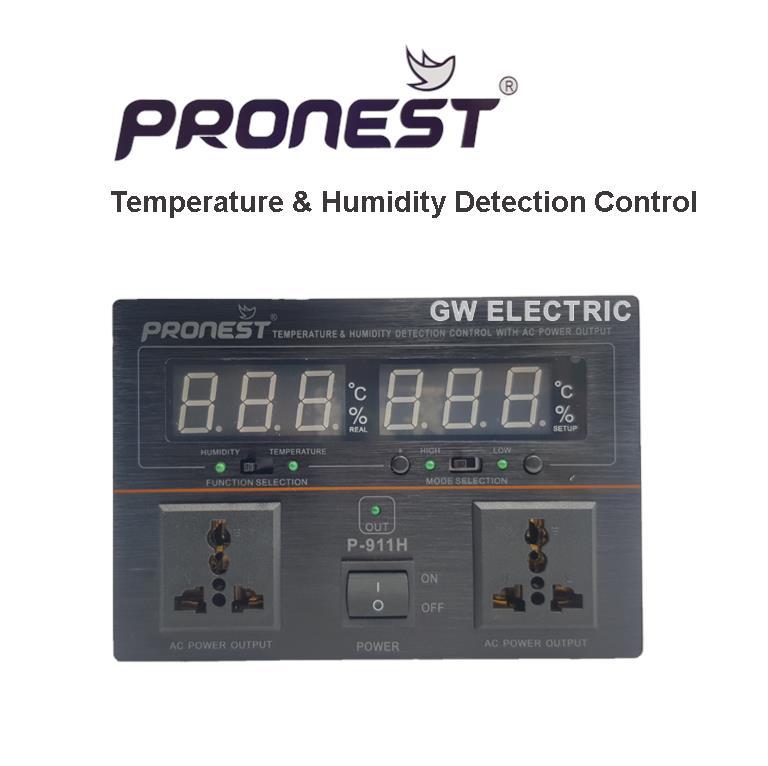 Pronest Temperature & Humidity Detection Control AC Power P-911H