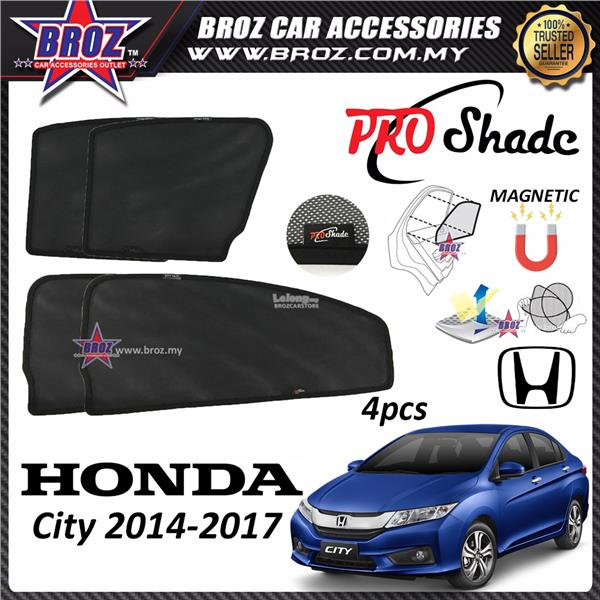 Proshade Custom Fit OEM Sunshades/ Sun Shades For Honda City 2014 2017