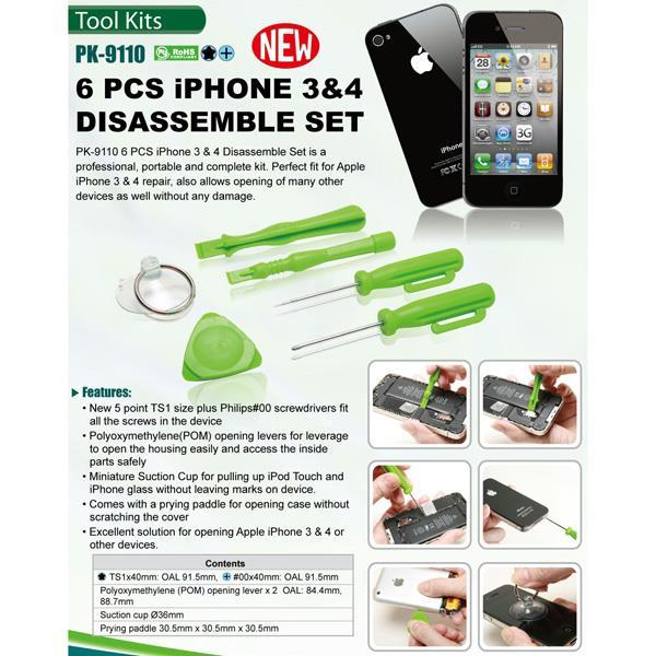 PROSKIT PK-9110 6 Pcs iPHONE Series Disassemble Set