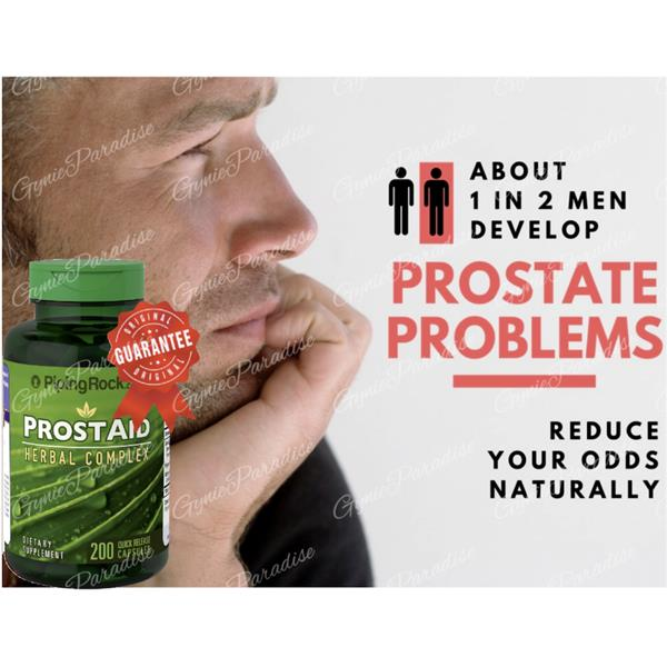 Prostate Problems ~ ProstAid Herbal Complex with Saw Palmetto 200 Caps