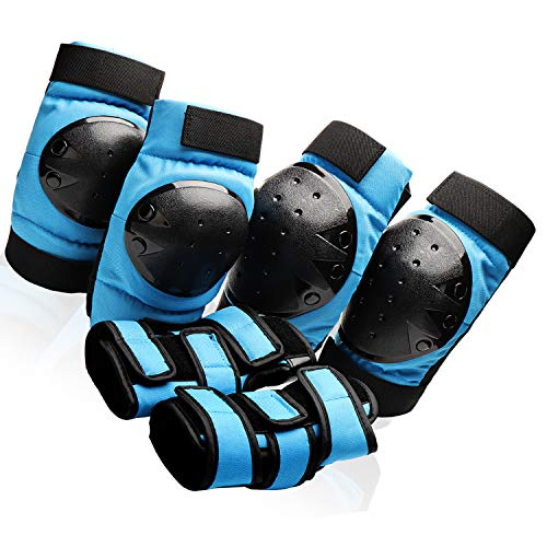 Protective Gear Set for Youth/Teens Knee Elbow Pads Wrist Guards for Inline Ro