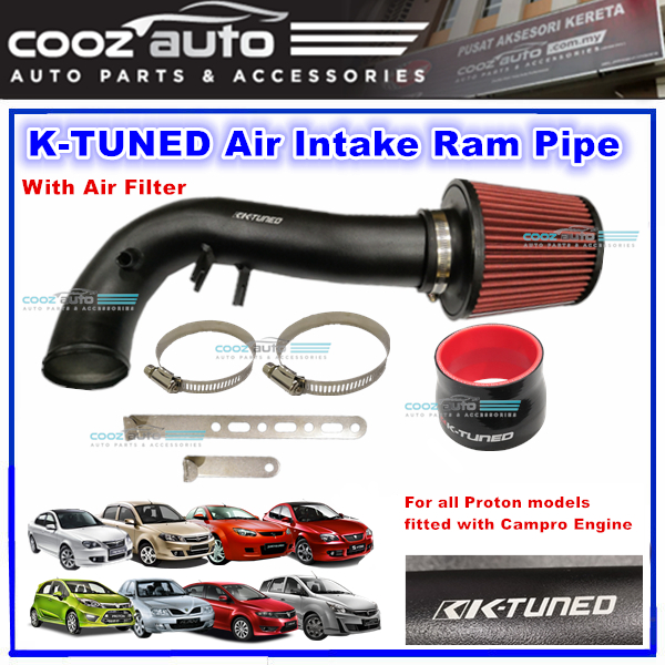 Proton Campro Engine K-Tuned Air Intake Ram Pipe Rampipe With Air Filt