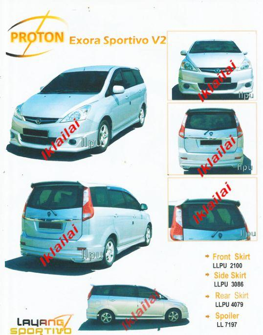 Proton Exora '09-11 Sportivo V2 Style Full Set Body Kit PU Material
