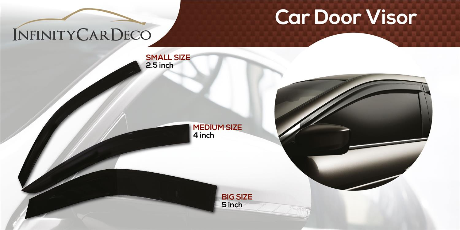 "Proton Exora 2009 Original Door Visor (3"" and 4"")"