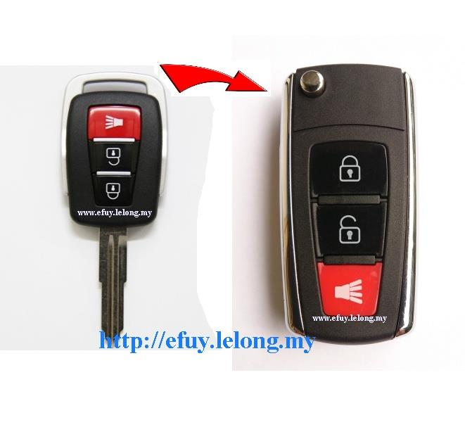 Proton Exora Flip keyshell,Folding Key Remote CASE for Proton Exora
