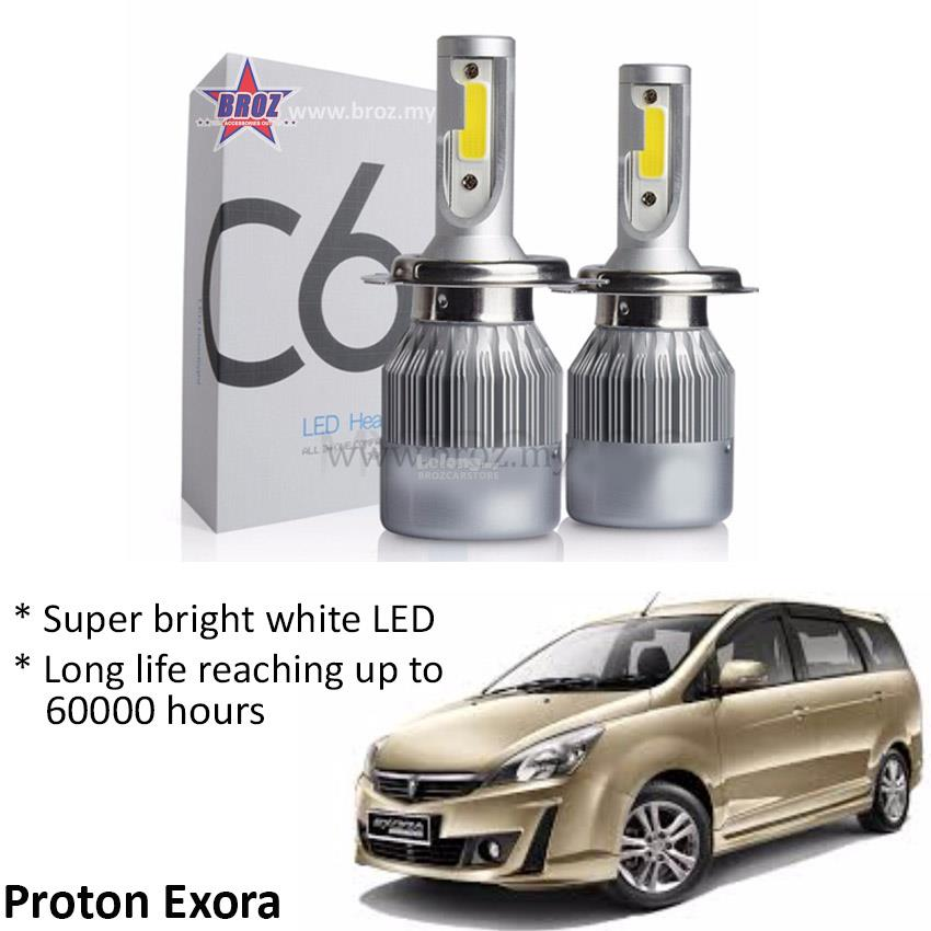 Proton Exora Head Lamp C6 LED Light Car Auto Head light Lamp 6500K