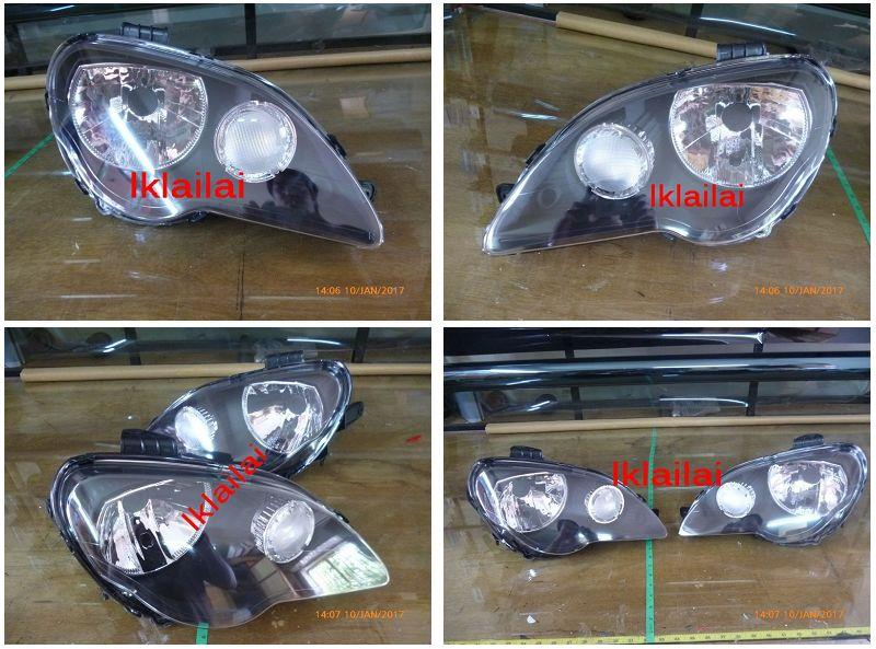 Proton Gen 2 / Persona '05 Head Lamp Crystal Black / Chrome 1-pair