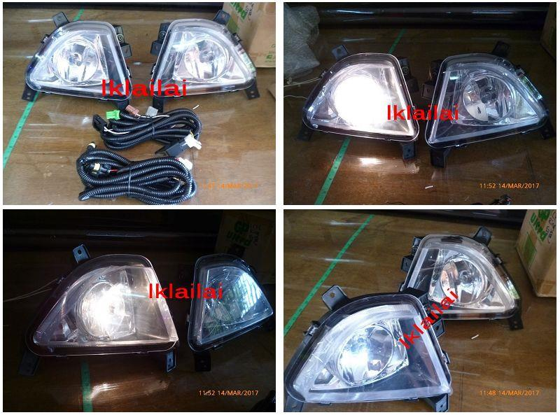 PROTON IRIZ  Fog Lamp Set Spot Light With Wiring + Switch