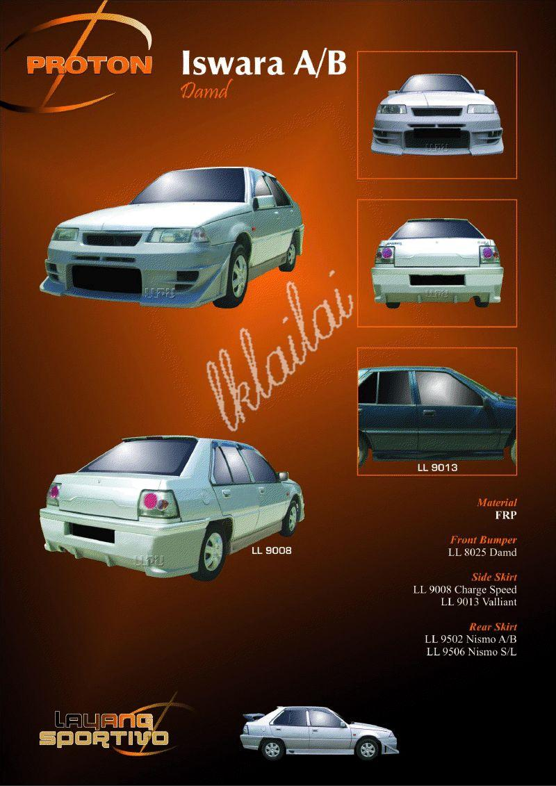 Proton Iswara Aeroback / Saloon Damd Style Full Set Body Kit