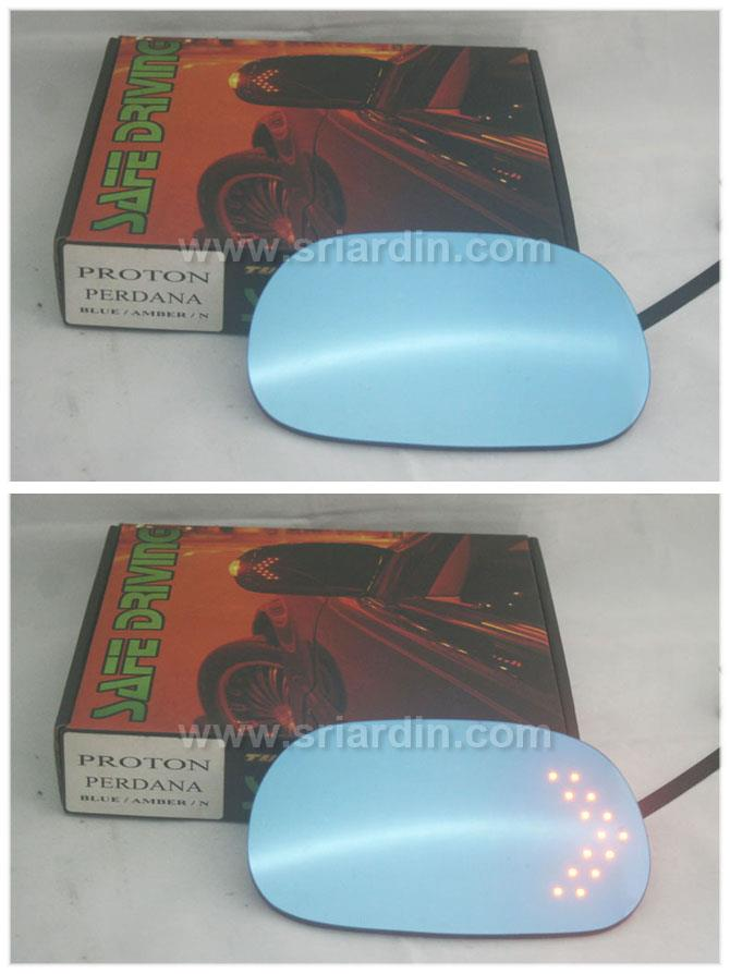 Proton Perdana 00-06 Blue Side Mirror with LED signal