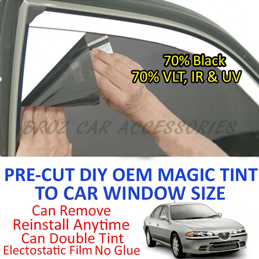 Proton Perdana Magic Tinted Solar Window (4 Windows & Rear) 70% Black