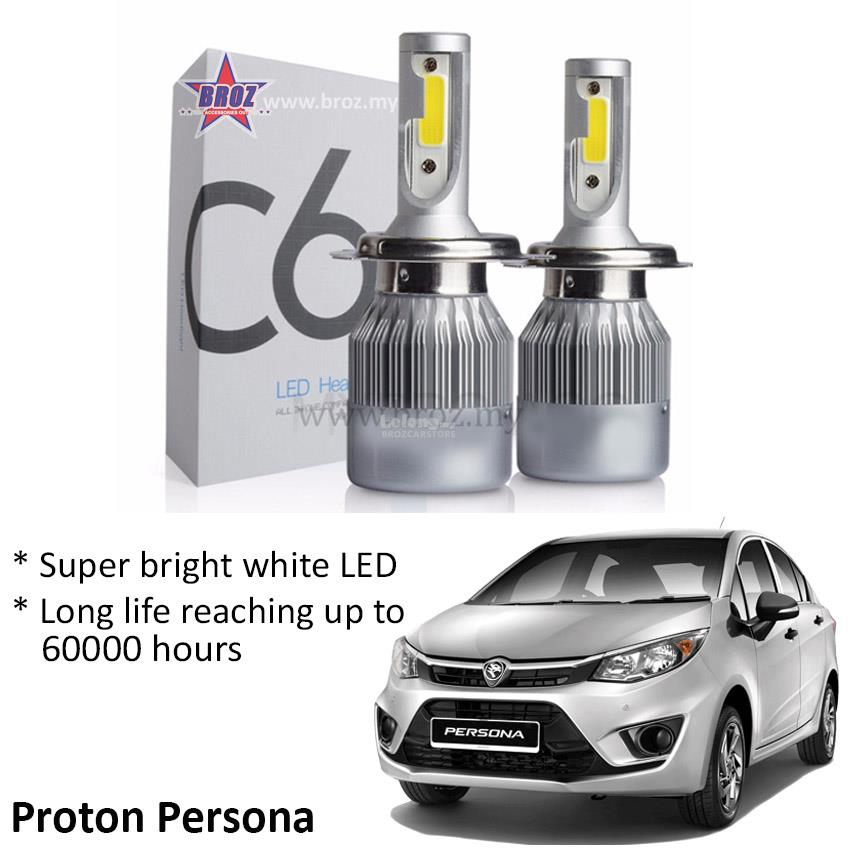 Proton Persona Fog Lamp C6 LED Light Car Auto Head light Lamp 6500K