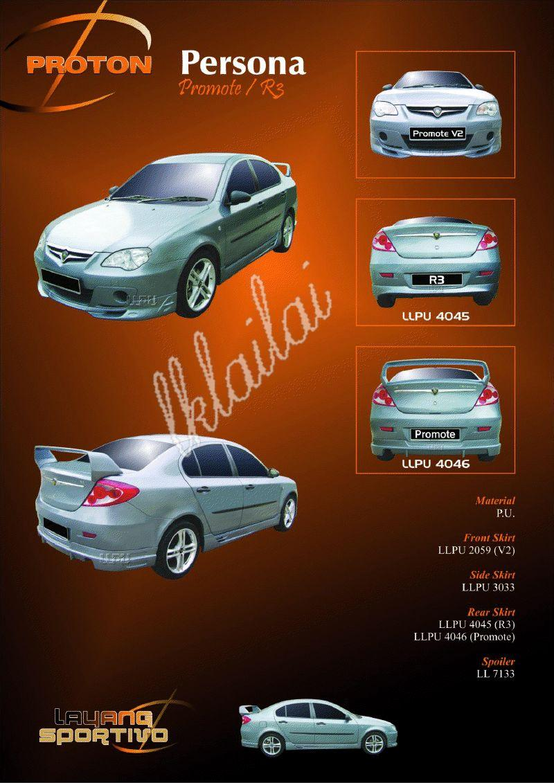 Proton Persona Full Set Body Kits [Promote/R3 Style] Free Reverse Came