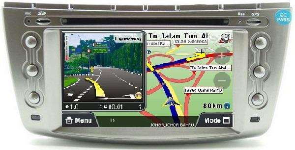 PROTON PERSONA GEN2 DLAA 7' Double Din GPS DVD VCD MP3 USB TV Player